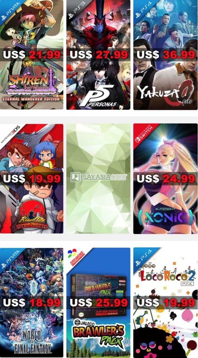 PlayAsia Weekly Sale Week 6 2018