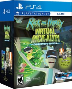rick and morty virtual rickality collectors edition nighthawk interactive ps4 psvr cover
