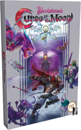 bloodstained curse of the moon classic edition retail limited run games cover limitedgamenews.com